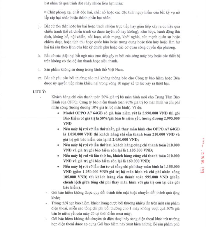 Thông tin chi tiết Gói bảo hiểm rơi vỡ màn hình dành cho Oppo A7 hình 4