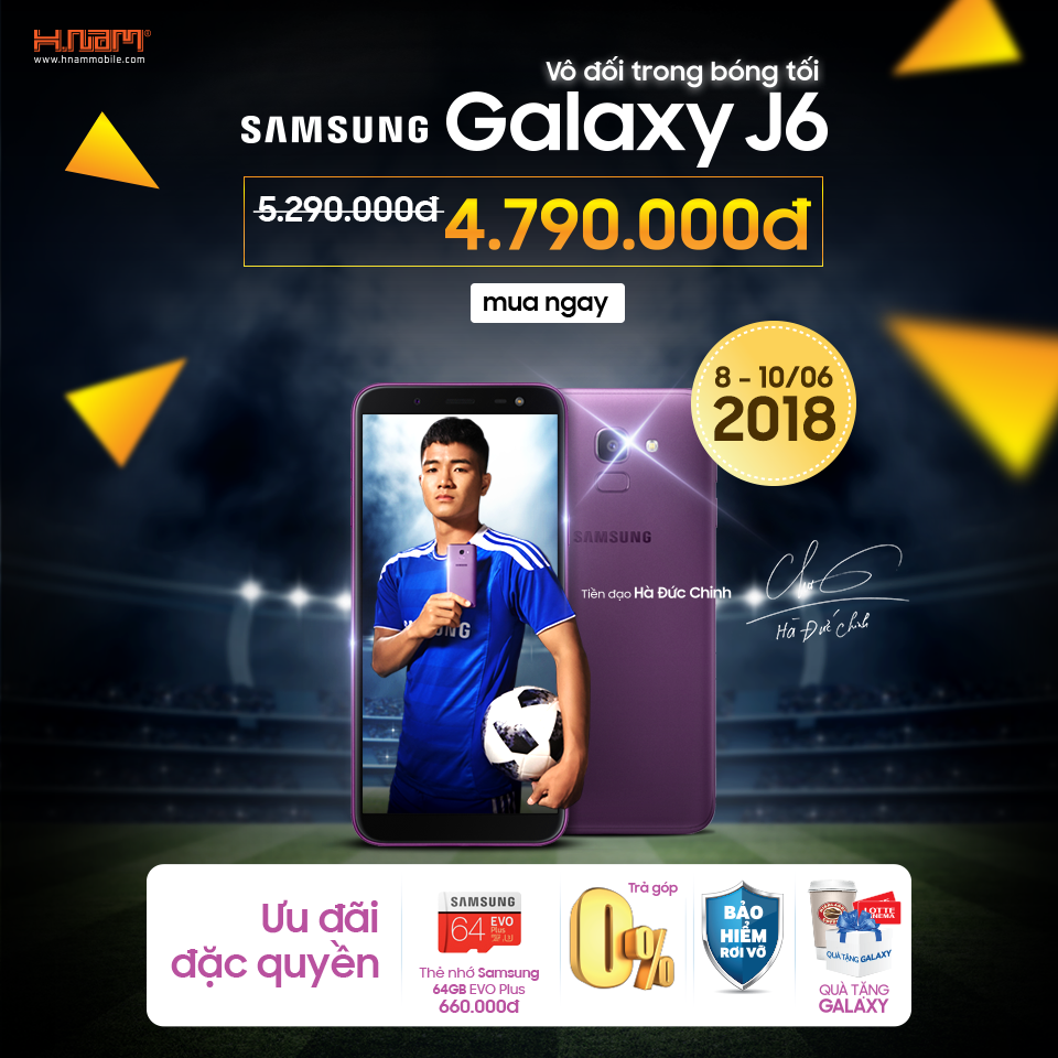 Ưu đãi HOT Galaxy J6 giảm ngay 500.000 đ chỉ trong các ngày 8 - 9 - 10/6 hình 1