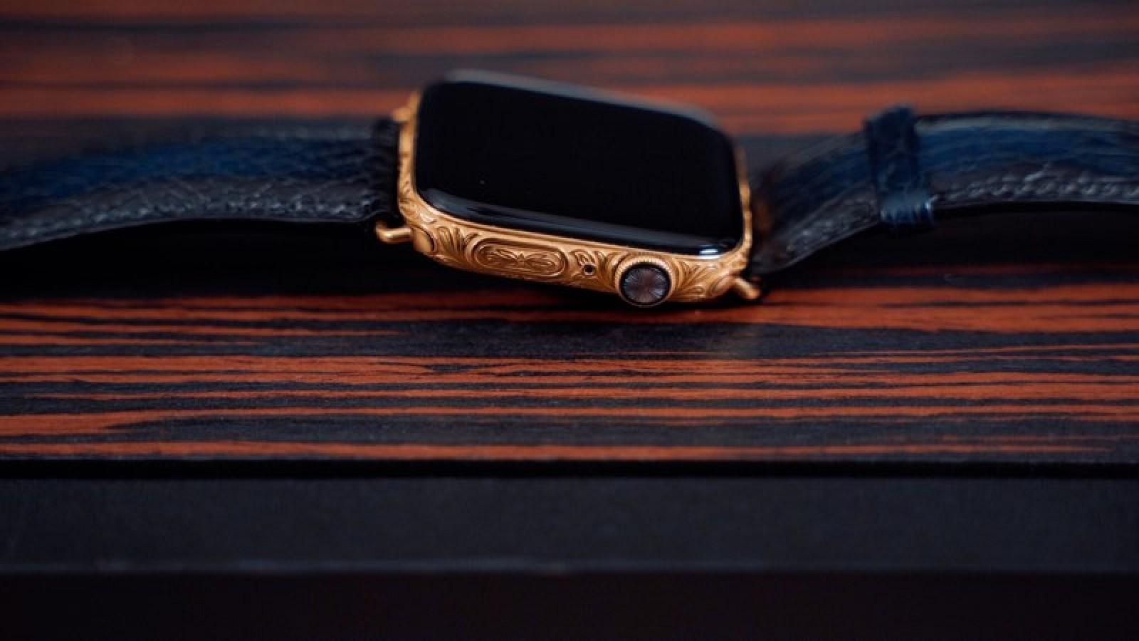 Chiêm ngưỡng Apple Watch Series 4 phiên bản mạ vàng có giá 2.200 USD hình 2
