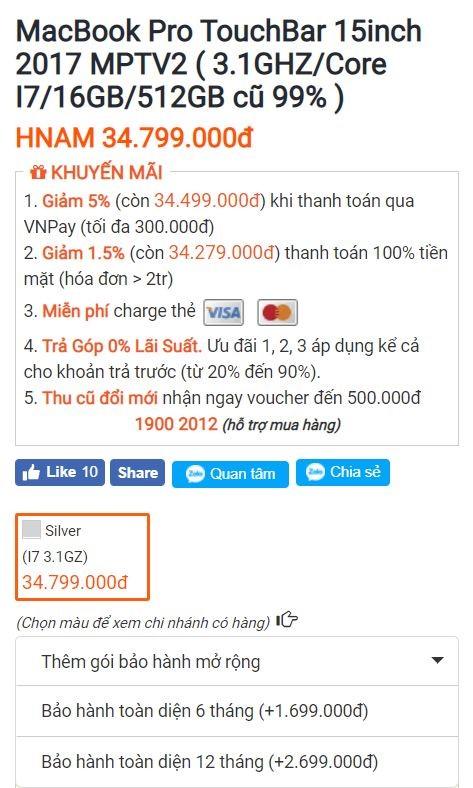 BẢO HÀNH TOÀN DIỆN CHO MAC 99% hình 2