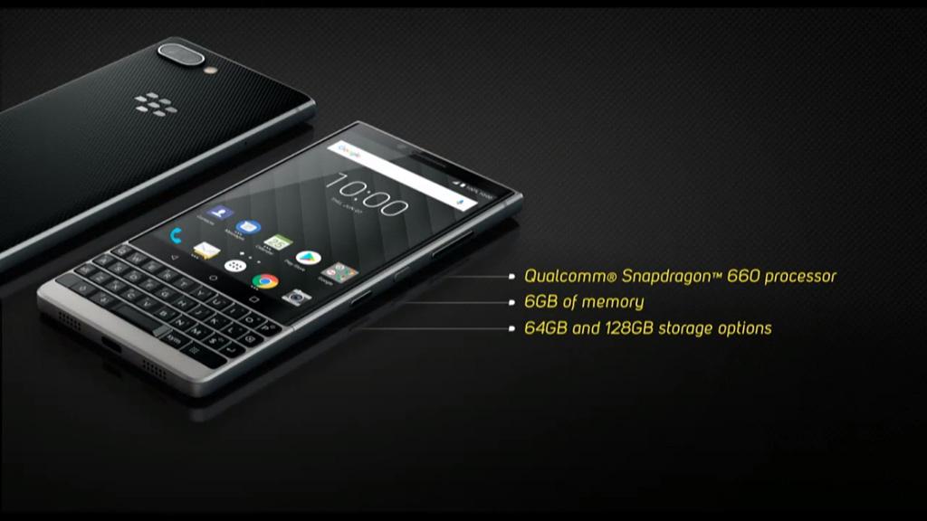 BlackBerry Key2 chính thức ra mắt với thiết kế nam tính hơn, camera kép hình 3