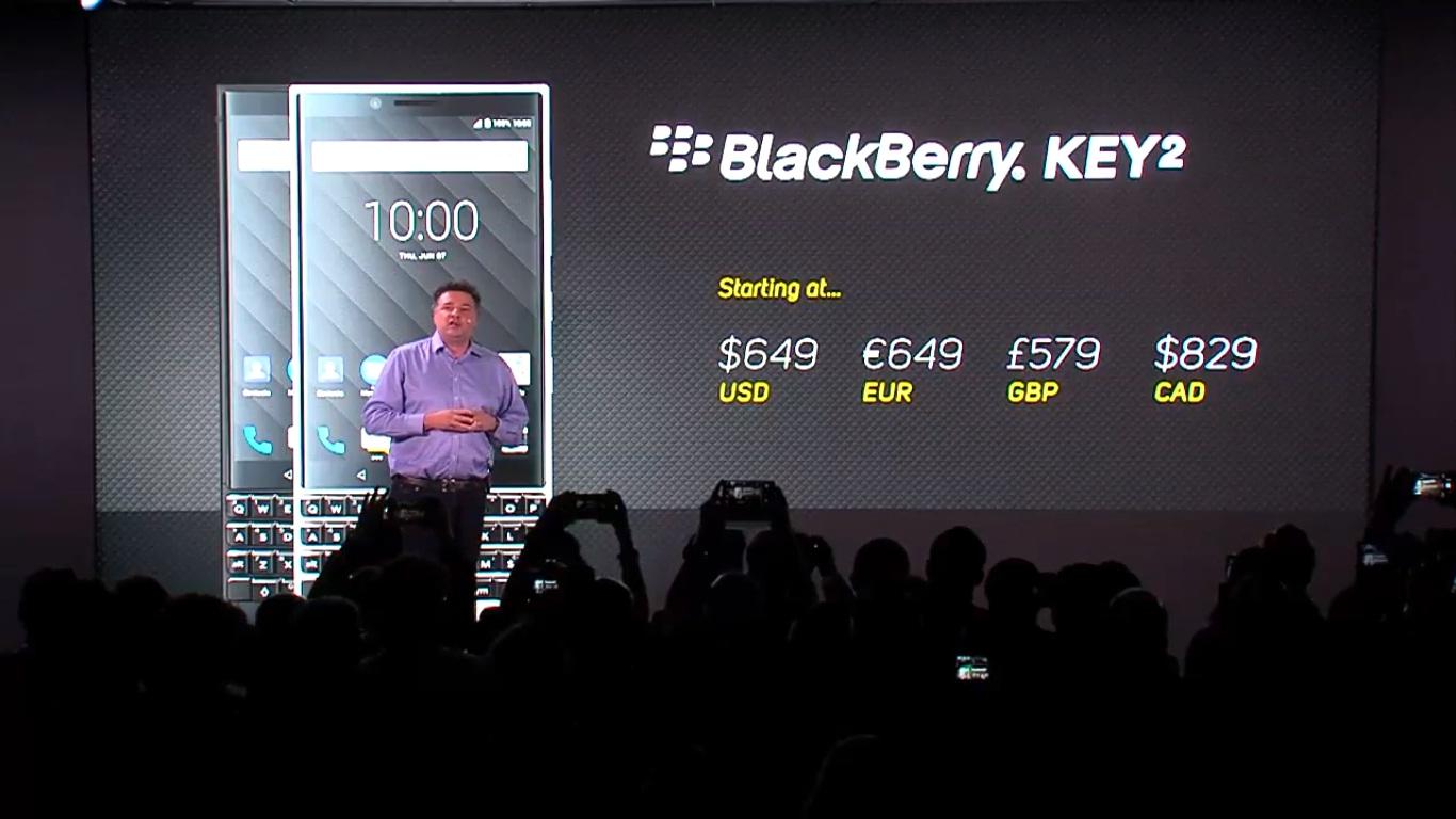 BlackBerry Key2 chính thức ra mắt với thiết kế nam tính hơn, camera kép hình 4