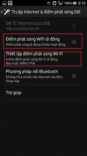Cách phát Wifi Hotspot trên một số mẫu smartphone hình 4