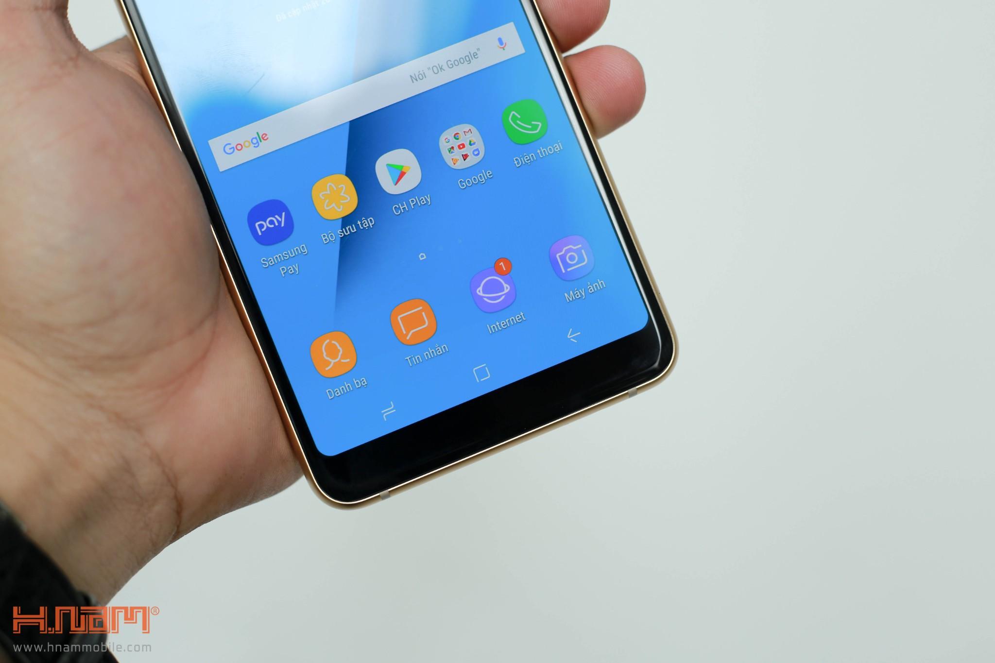 Đánh giá thiết kế Galaxy A8/ A8+: Vẻ đẹp sang trọng của kim loại và kính hình 4
