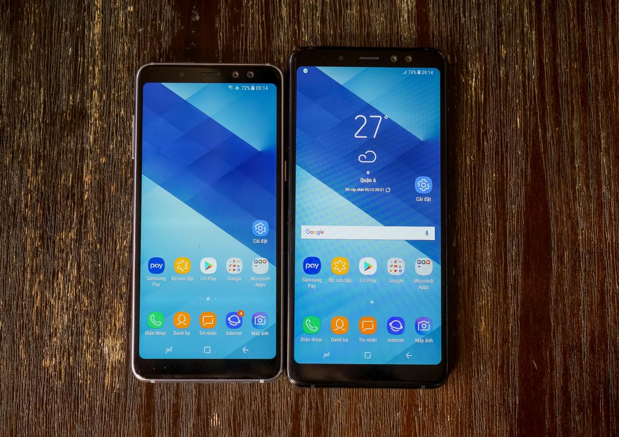 Đánh giá thiết kế Galaxy A8/ A8+: Vẻ đẹp sang trọng của kim loại và kính hình 3