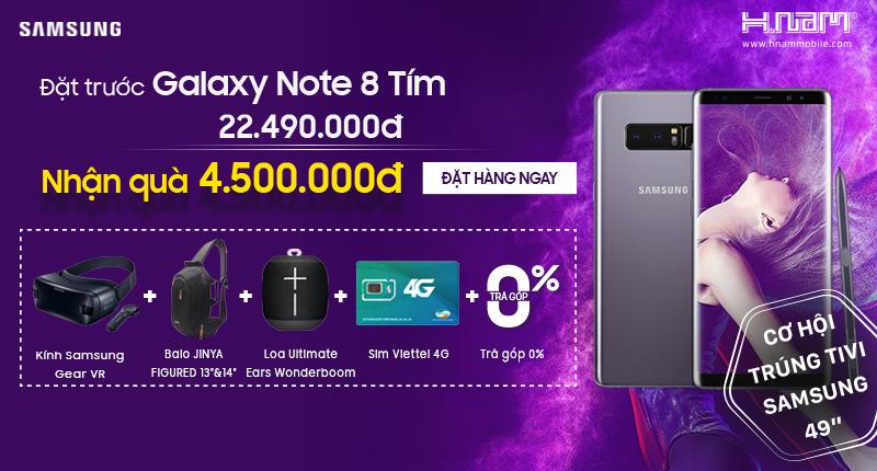 Samsung chính thức ra mắt Galaxy Note8 tím khói tại Việt Nam, giá không đổi hình 4