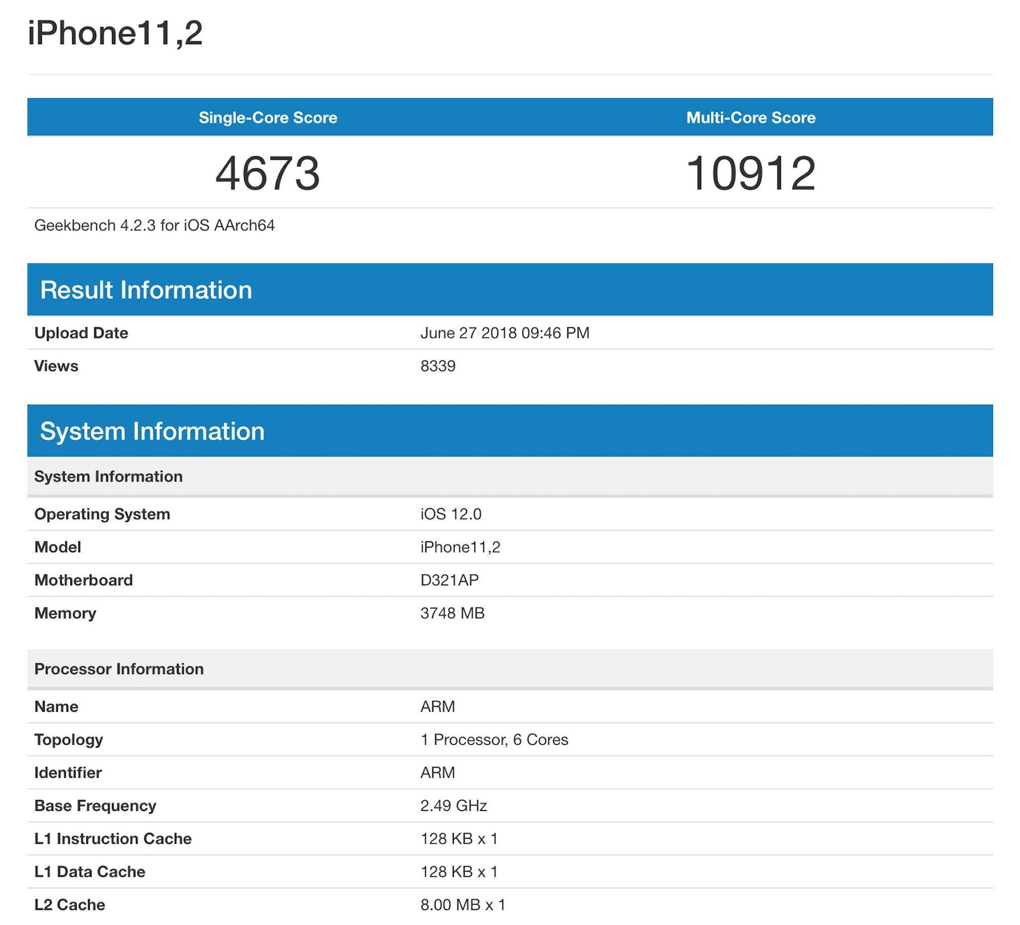 Rò rỉ điểm Benchmark của iPhone X Plus??? hình 2