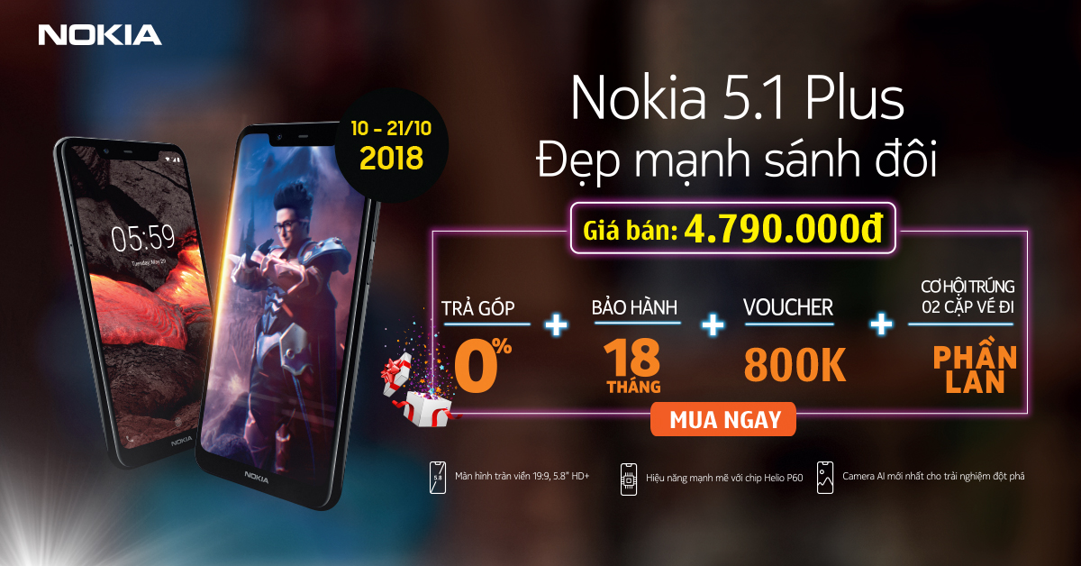 Cơ hội miễn phí du lịch tại Phần Lan cùng Nokia 5.1Plus hình 1