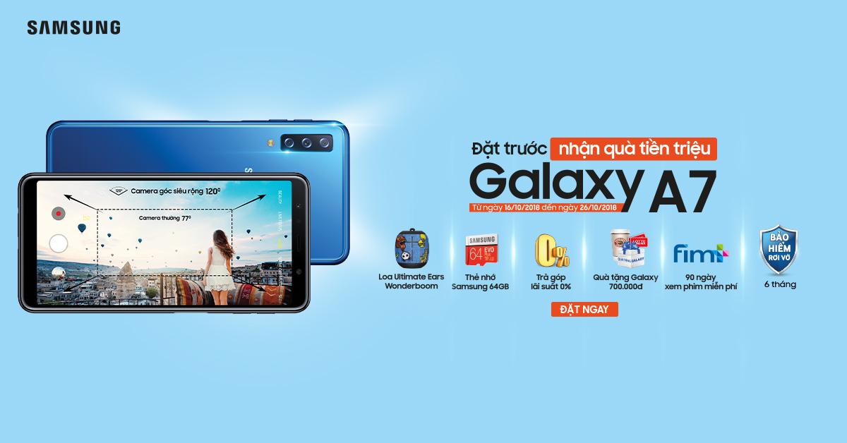 Gói ưu đãi đặc biệt cho Samsung Galaxy A7 hình 1