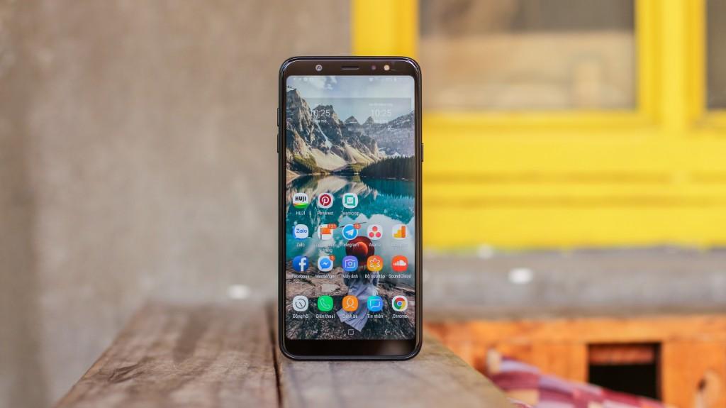 Trên tay Galaxy A6+: Thiết kế thời trang, camera kép xóa phông ấn tượng hình 1