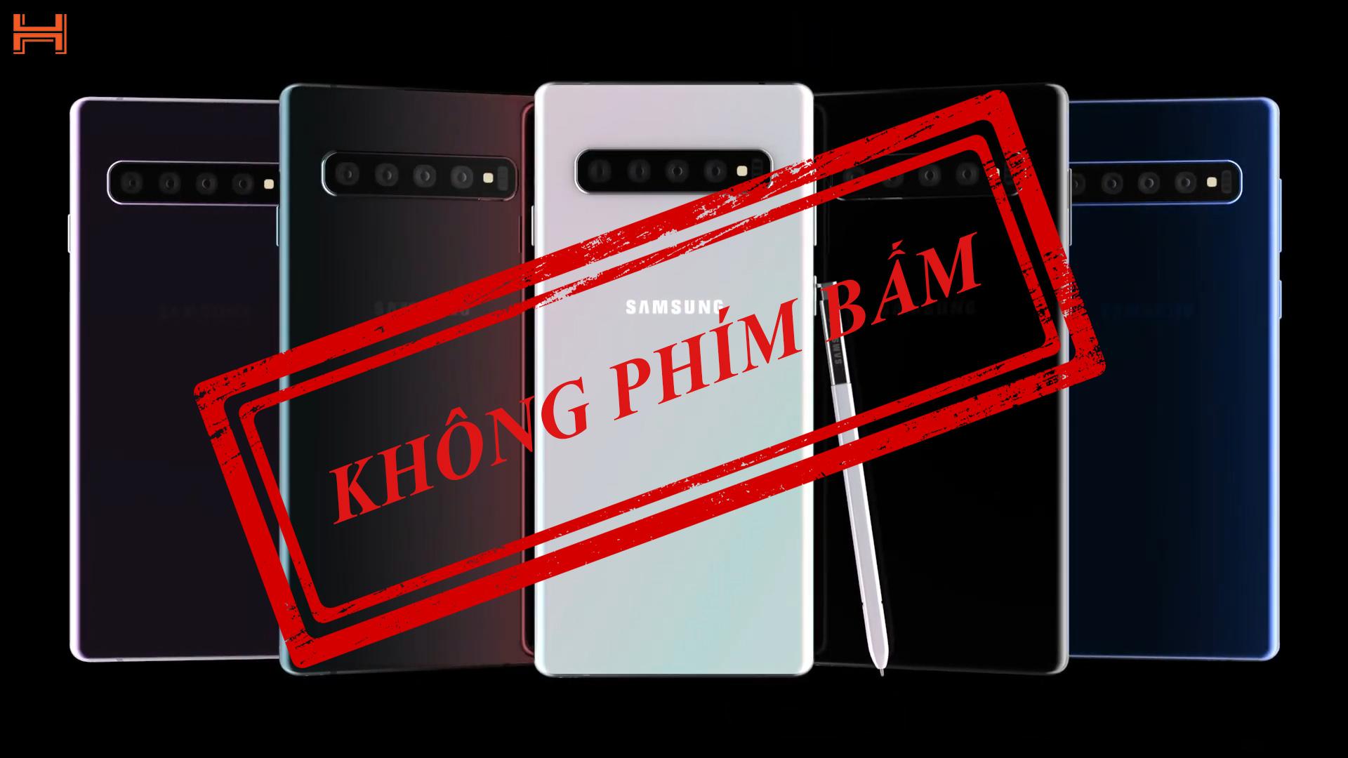 Smartphone đầu tiên không có phím bấm của Samsung, Galaxy Note 10 lộ mặt hình 1