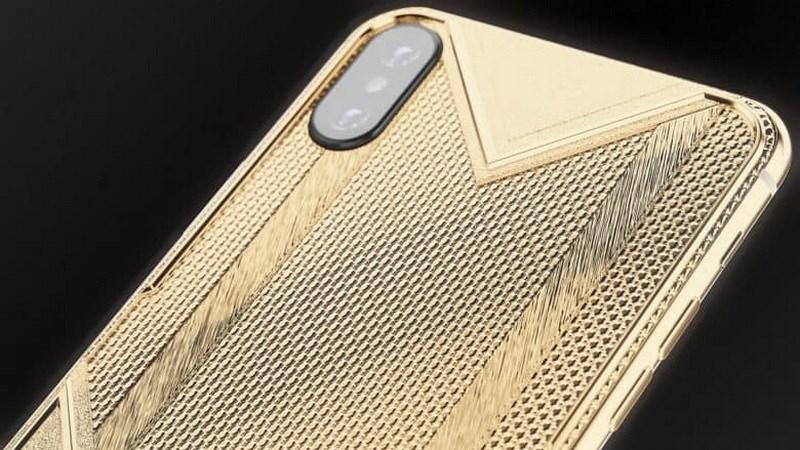 Giá iPhone Xs Max mạ vàng cao ngất ngưỡng350 triệu đồng hình 1