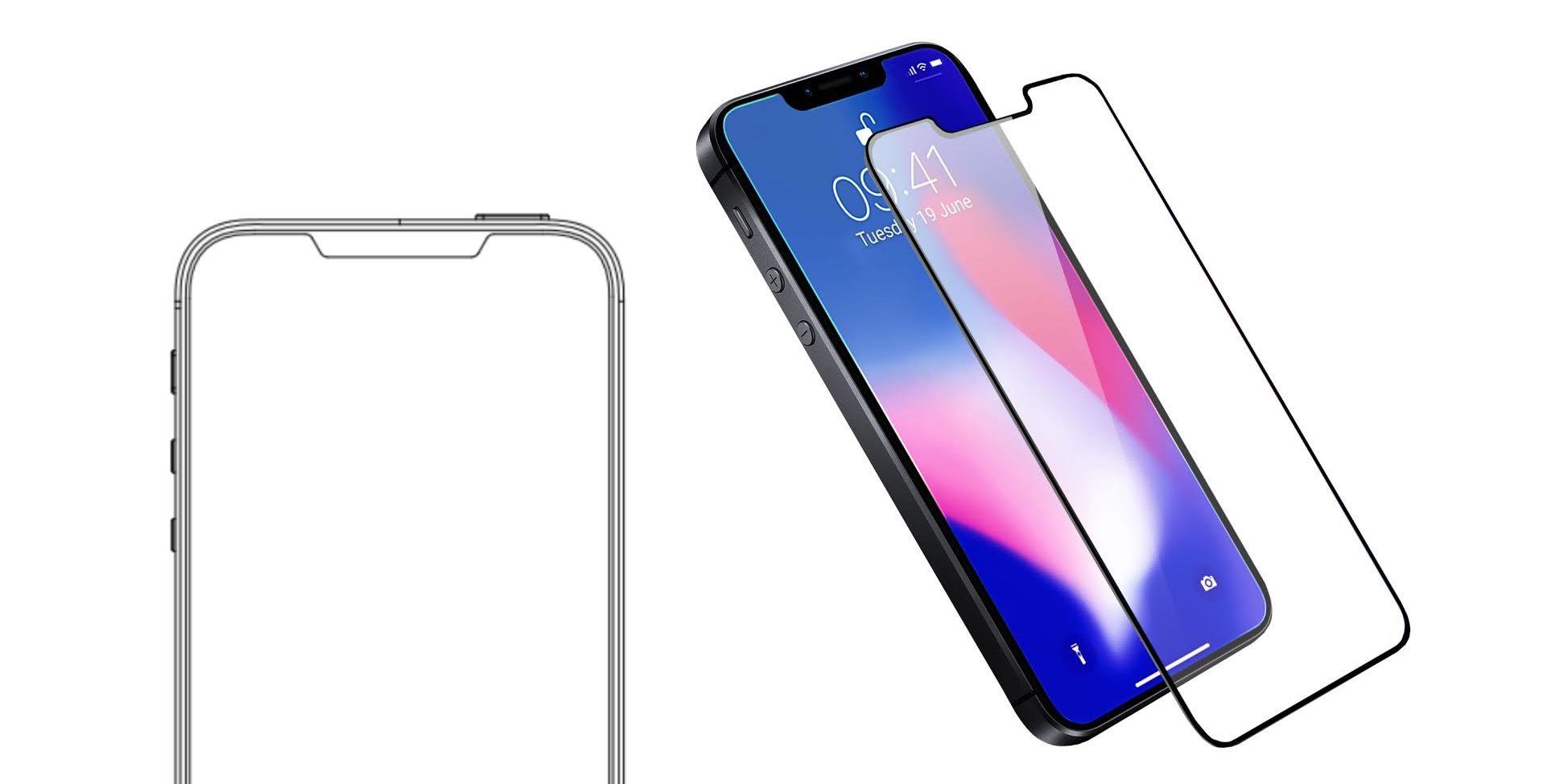 Lộ thiết kế kính bảo vệ của Olixar cho thấy iPhone SE 2 là phiên bản thu nhỏ của iPhone X hình 1