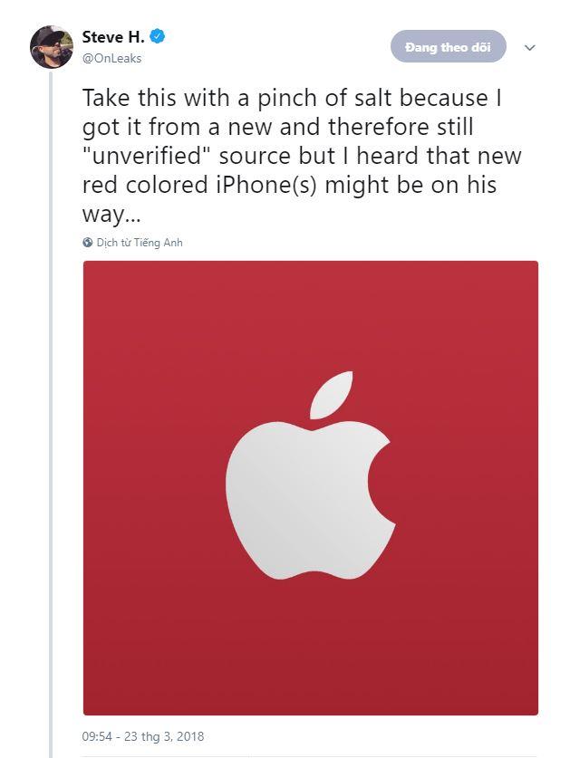 iPhone 8, 8 Plus và iPhone X màu đỏ sẽ ra mắt trong tháng này? hình 2
