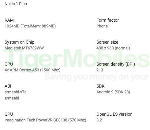Rò rỉ thiết kế và thông số cấu hình smartphone giá rẻ Nokia 1 Plus hình 2