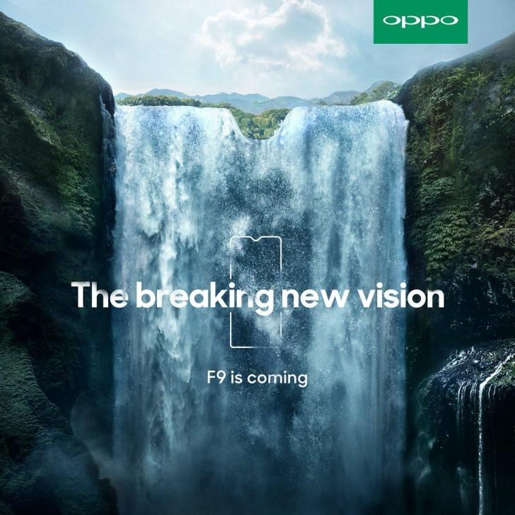 Tease mới của OPPO F9 tiết lộ thiết kế màn hình tai thỏ? hình 1