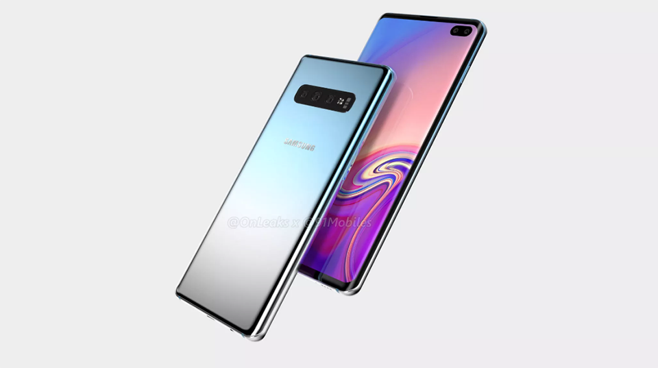 Galaxy S10 Plus lộ diện video render với màn hình Infinity-O hình 2