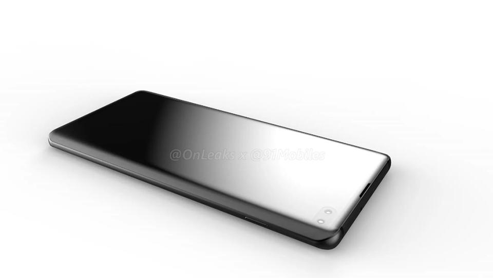 Galaxy S10 Plus lộ diện video render với màn hình Infinity-O hình 4