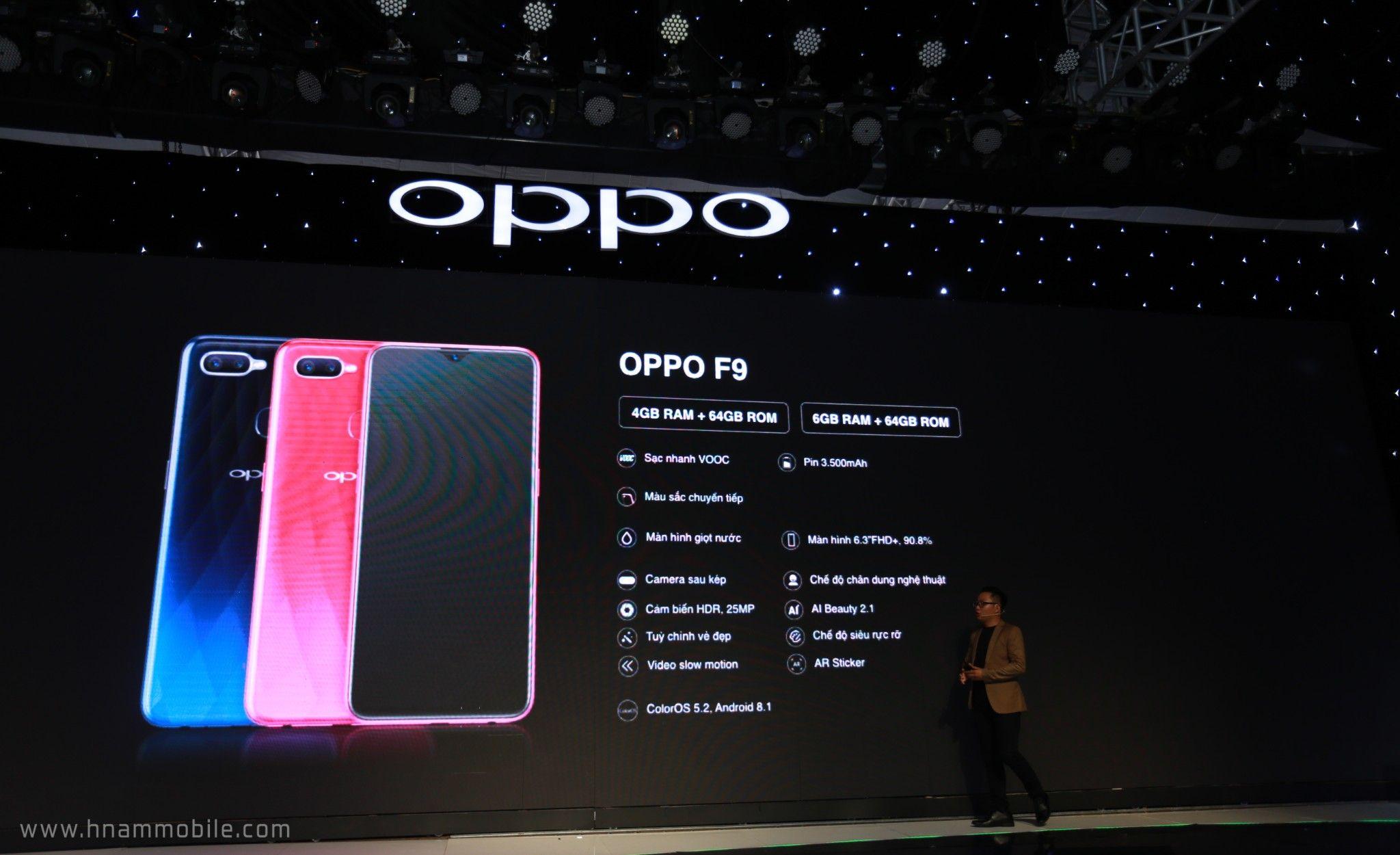 OPPO F9 ra mắt: Màn hình giọt nước, sạc nhanh VOOC, camera kép, giá 7.690.000 VNĐ hình 7