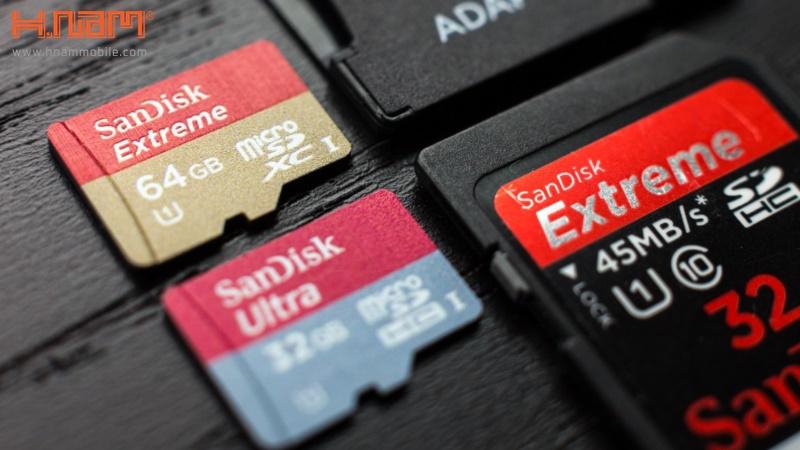 Sandisk là một thương hiệu thẻ nhớ nổi tiếng