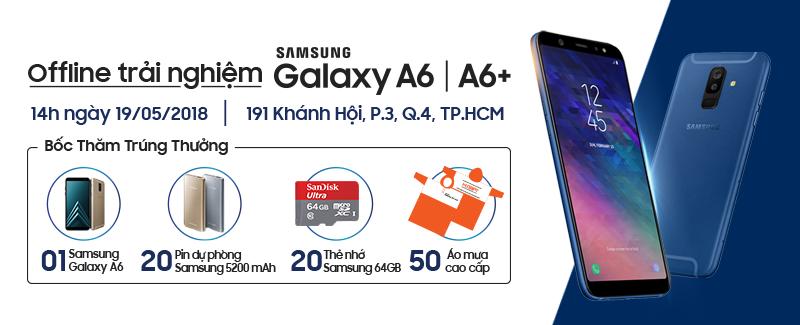 OFFLINE TRẢI NGHIỆM SAMSUNG GALAXY A6/A6+ CÙNG HNAM MOBILE hình 1