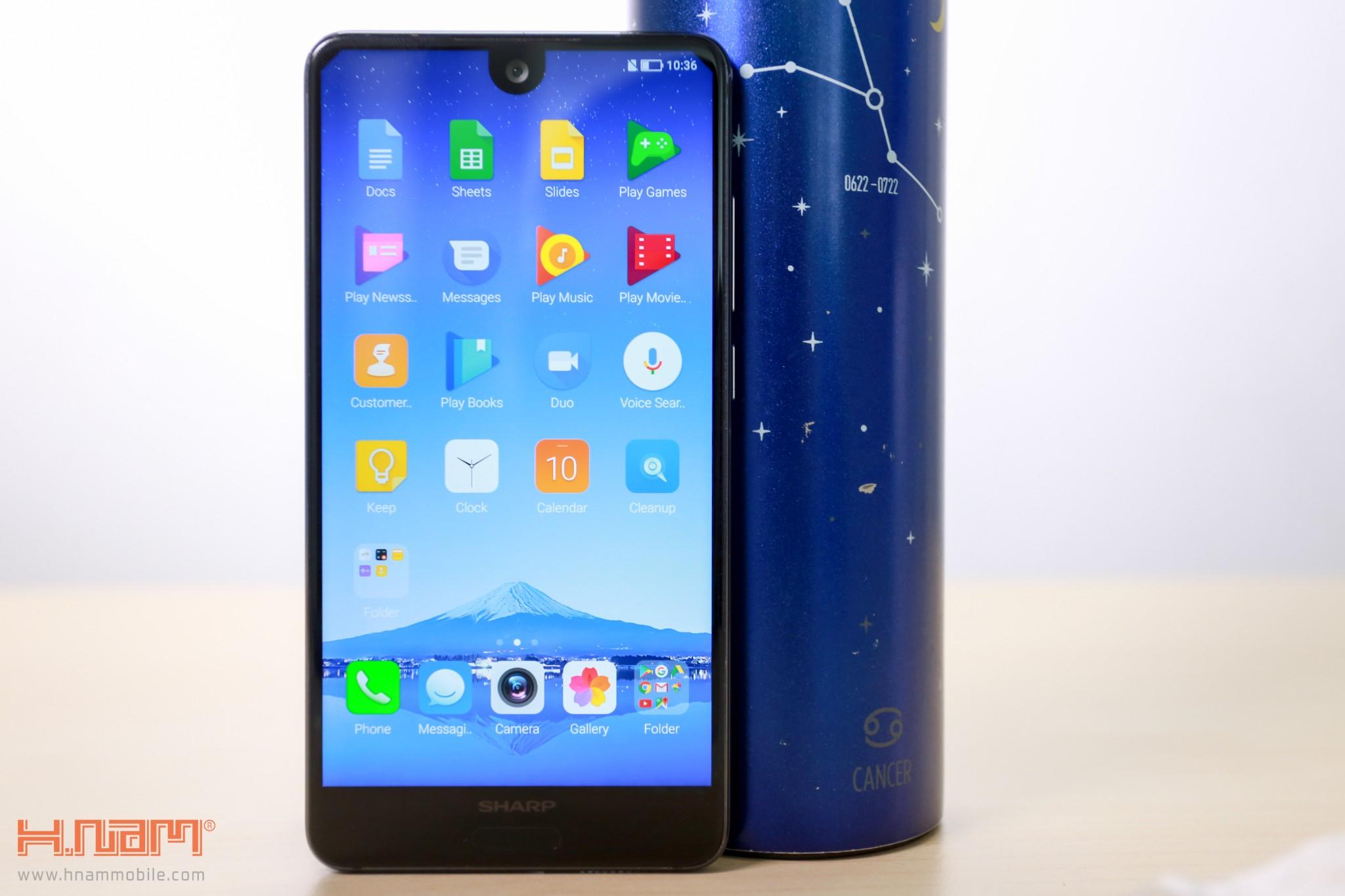 Trên tay Sharp Aquos S2 phiên bản màu xanh tại Việt Nam hình 2