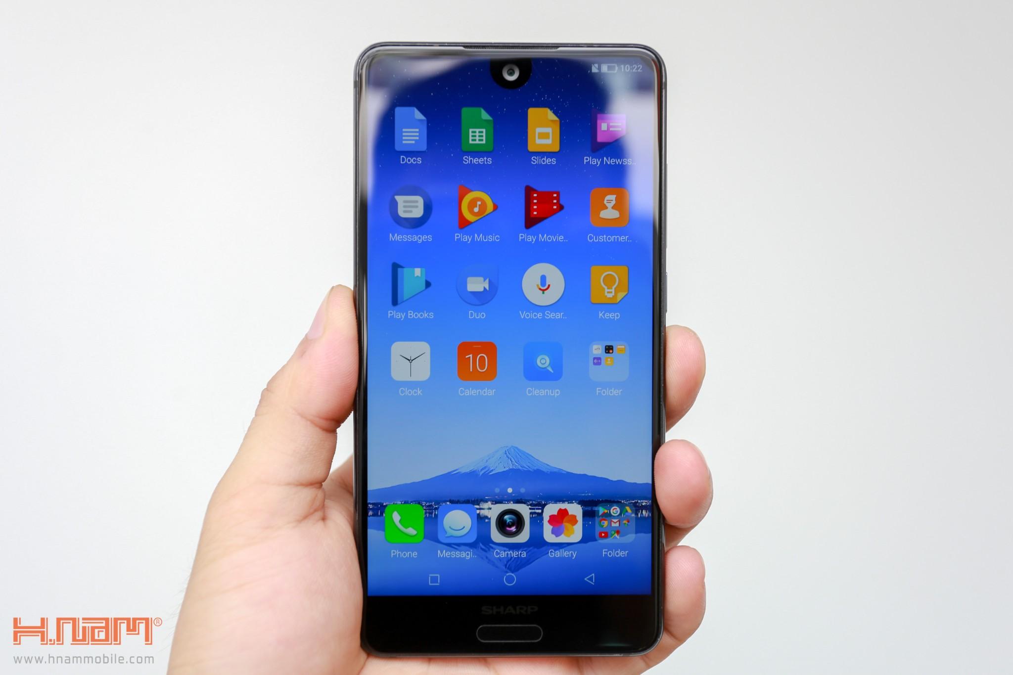 Trên tay Sharp Aquos S2 phiên bản màu xanh tại Việt Nam hình 8