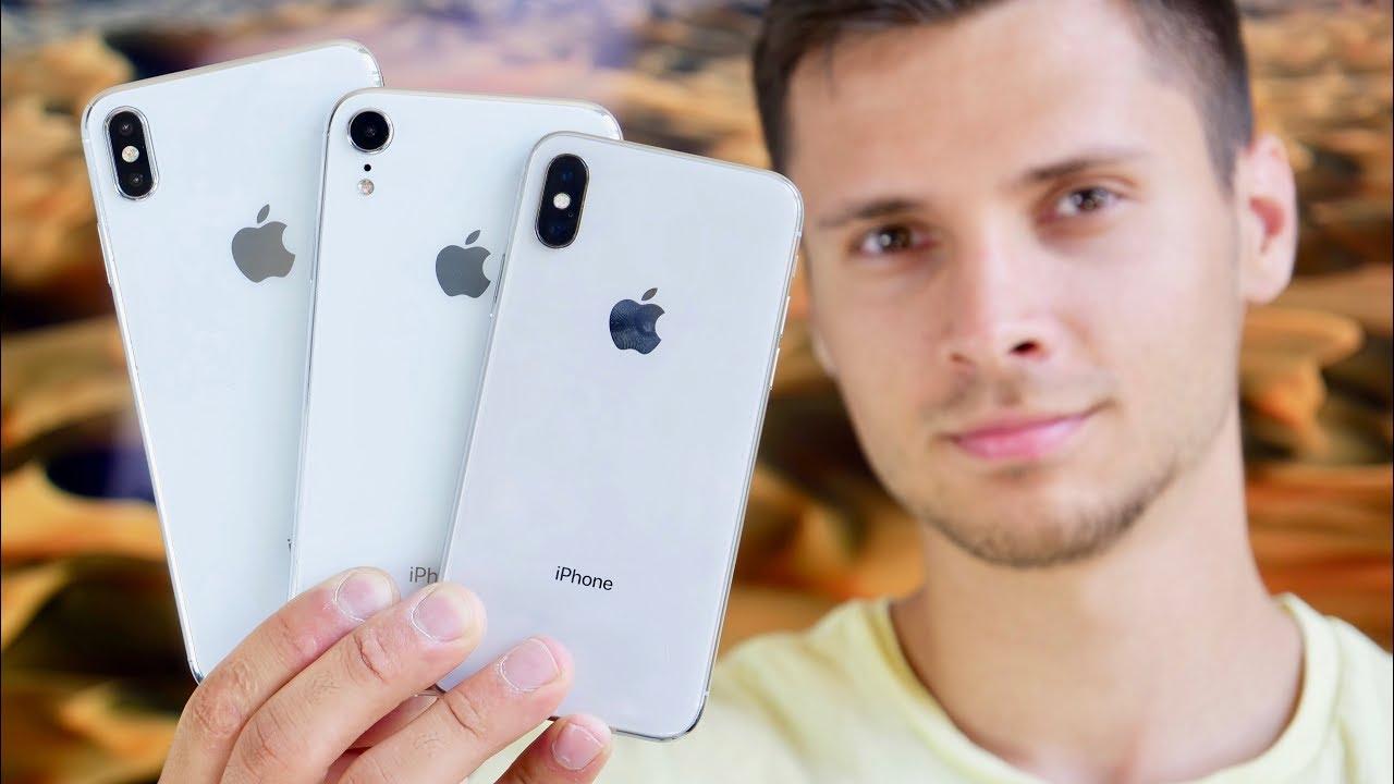 Trên tay mô hình bộ 3 iPhone X 5.8 inch, iPhone X Plus 6.5 inch và iPhone LCD 6.1 inch. hình 1