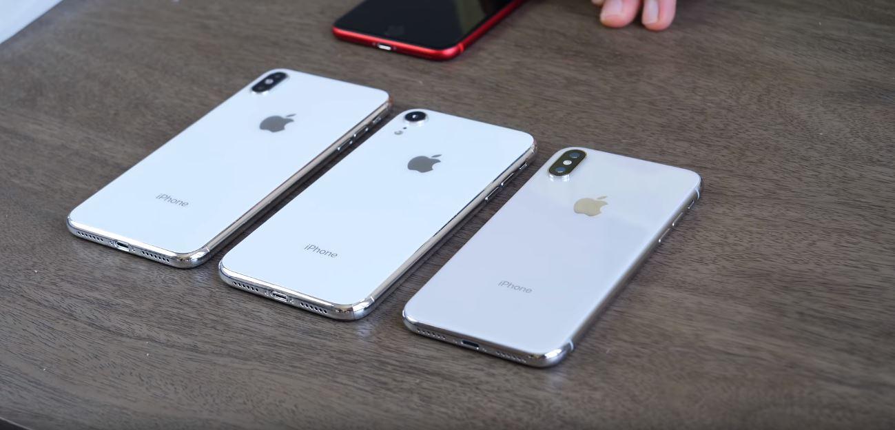 Trên tay mô hình bộ 3 iPhone X 5.8 inch, iPhone X Plus 6.5 inch và iPhone LCD 6.1 inch. hình 3