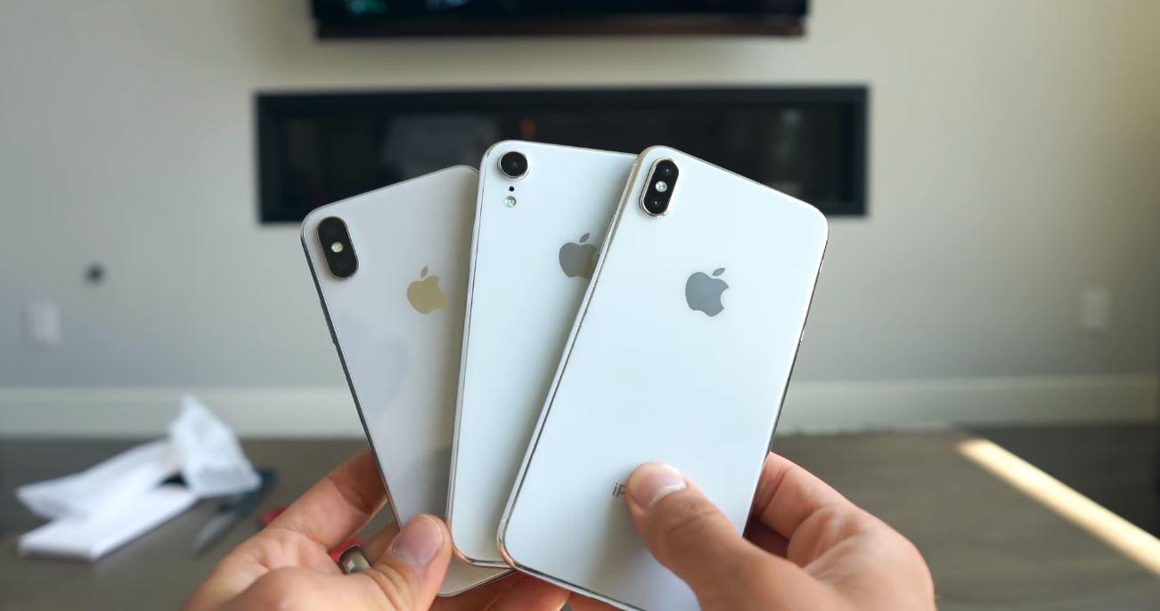 Trên tay mô hình bộ 3 iPhone X 5.8 inch, iPhone X Plus 6.5 inch và iPhone LCD 6.1 inch. hình 2