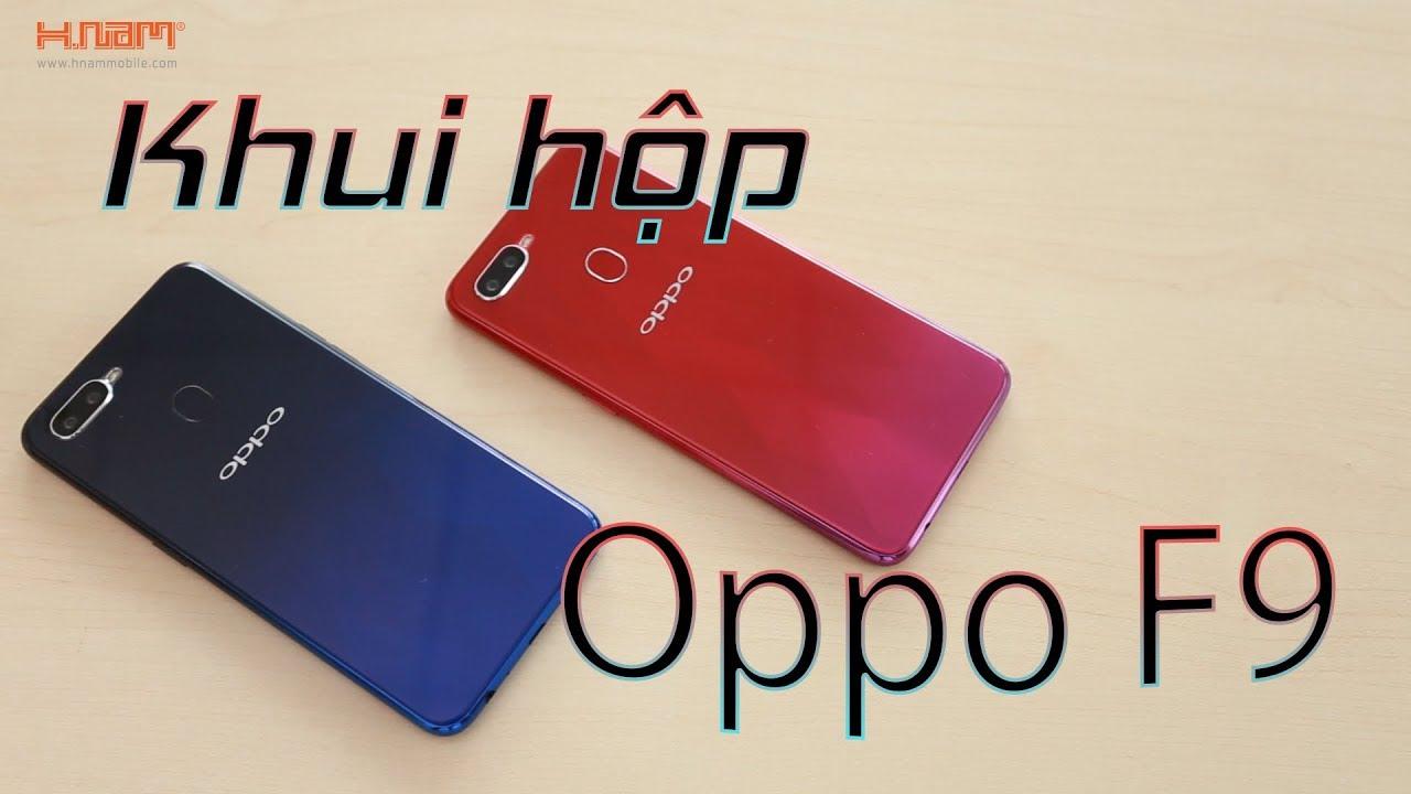 Khui hộp nhanh Oppo F9 - 5 phút sạc 2 giờ liên lạc hình 1