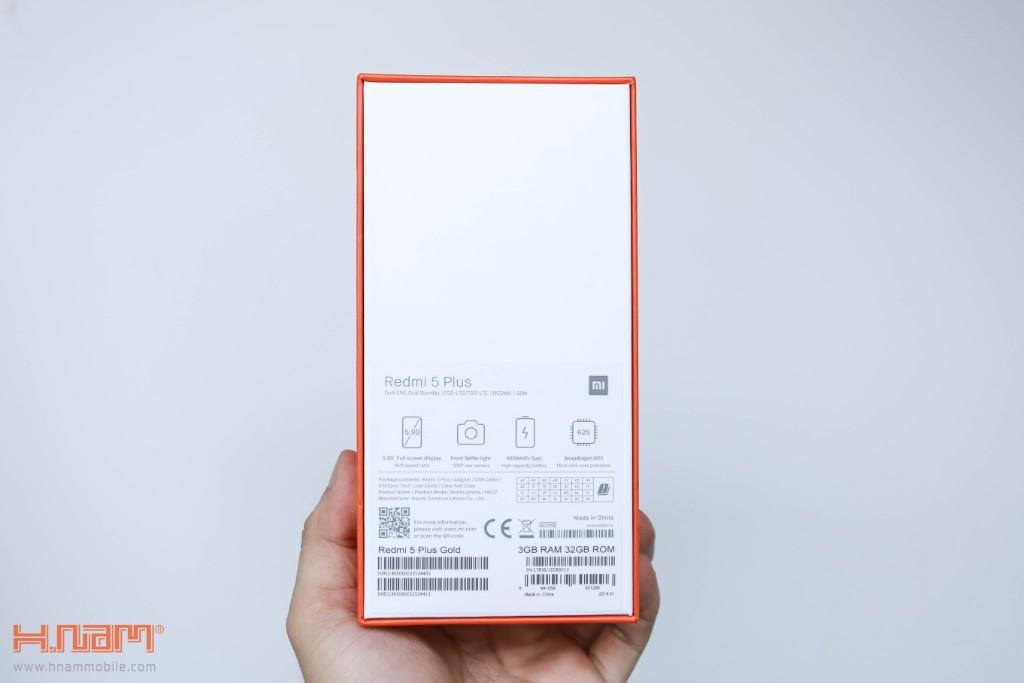 Đập hộp Xiaomi Redmi 5 Plus: Thiết kế thời thượng với màn hình 18:9 giá chỉ 3.9 triệu đồng hình 4