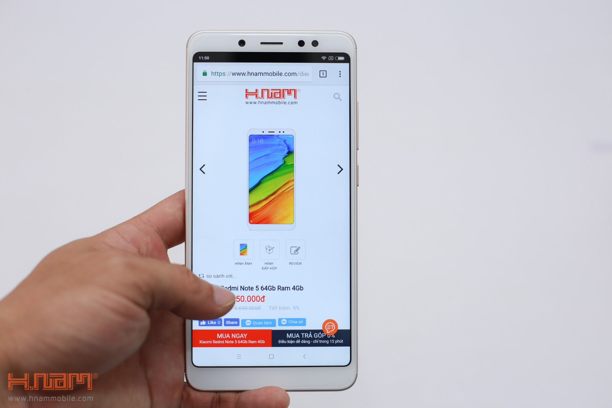Trên tay Xiaomi Redmi Note 5: Sát thủ trong phân khúc tầm trung!!! hình 11