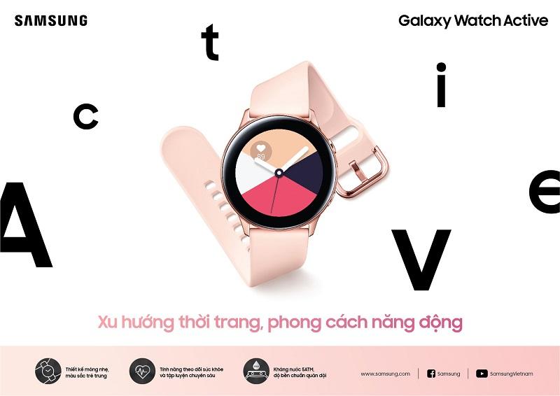 Samsung ra mắt đồng hồ thông minh Galaxy Watch Active: Xu hướng thời trang, phong cách năng động hình 2