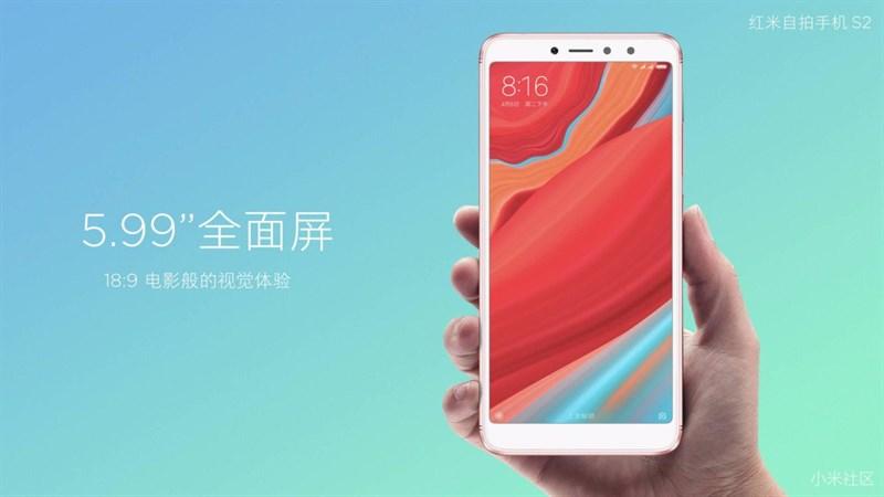 Xiaomi Redmi S2 chính thức ra mắt: màn hình 18:9, camera kép, giá từ 3.5 triệu đồng hình 2