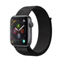 Apple Watch Series 4 44mm GPS Space Black Aluminum Case with Black Sport Loop MU6E2