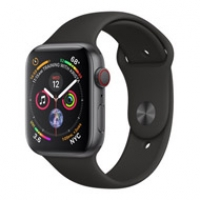 Apple Watch Series 4 40mm LTE Aluminum Case White Black Sport Band MTUG2