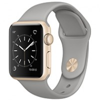 Apple Watch Series 2 38mm Gold Aluminum Case with Concrete Sport Band MNP22