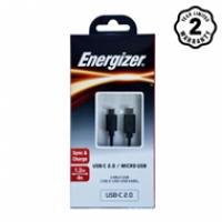 Energizer cable TypeC 2.0 to Micro C11C2MCGBK4 (1m2)