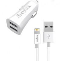 Sạc xe hơi Energizer 3.4A 2 cổng USB (kèm cáp lightning)