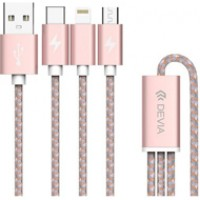 Devia cable Vogue 3 in 1 (Lightning + Type C + Micro)