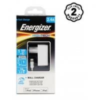 Sạc Energizer 2 cổng 2.4A EU (kèm cáp Lightning) ACA1BEUHLI3