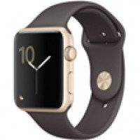 Apple Watch Series 2 42mm Gold Aluminum Case with Cocoa Sport Band MNPN2
