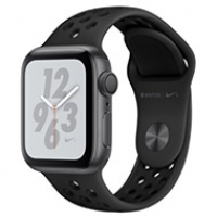 Apple Watch Series 4 44mm GPS Space Gray Aluminum Case With Anthracite Black Nike Sport Band MU6L2