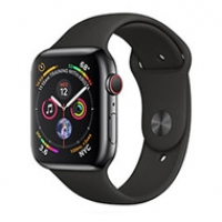 Apple Watch Series 4 40mm GPS Aluminum Case with Black Sport Band MU662