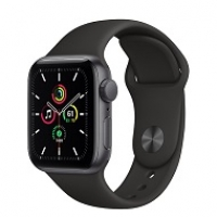 Apple Watch SE 44mm GPS Space Gray Aluminium Case with Black Sport Band MYDT2
