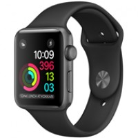 Apple Watch Series 2 42mm Space Gray Aluminum Case Sport Black MP062