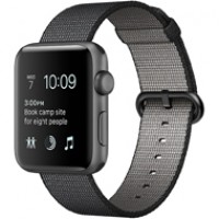 Apple Watch Series 2 38mm Space Gray Aluminium Case with Black Woven Nylon MP052 copy