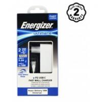 Sạc Energizer 2 cổng 30W PD 18W (kèm cáp TypeC ) AC11PFEUUCC3
