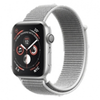 Apple Watch Series 4 40mm GPS Silver Aluminum Case with Seashell Sport Loop MU652